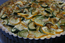 Small Summer Squash Tart