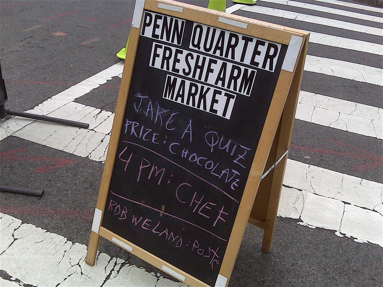 White apron penn quarter - Opening Day At Penn Quarter