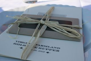 Summer Solstice Menu and Place Setting